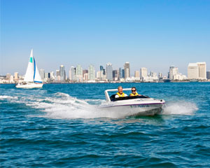 Speed Boat Tour of San Diego, Single Driver - 2 Hours