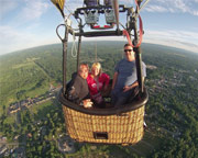 Hot Air Balloon Ride Saratoga Springs, Private Basket - 1 Hour Flight
