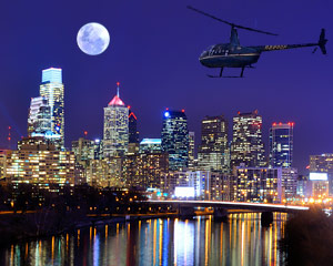Private Helicopter Ride Philadelphia Night Flight - 30 Minutes