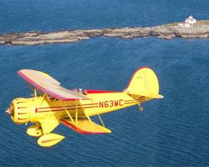 Biplane Ride Acadia, Lighthouse Tour - 40 Minutes