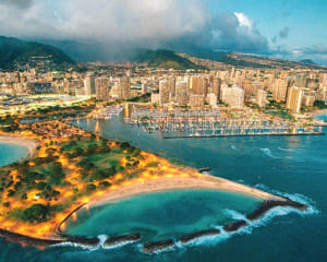 Helicopter Tour Honolulu, Evening Ride - 15 Minutes