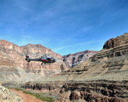 Grand Canyon Helicopter Ride with Canyon Floor Champagne Landing and Strip Tour - 4 Hours (Hotel Shuttle Included)