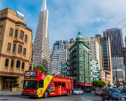 San Francisco Bus Tour, Hop-On Hop-Off Double Decker Downtown Tour - 24 Hour Access