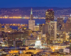 San Francisco Bus Tour, Double Decker Night Tour - 1.5 Hours
