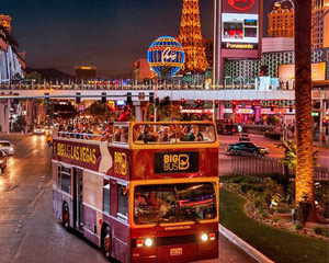 Open-Top Bus Tour Las Vegas - Night Tour