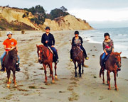 Horseback Riding on a Beach at Santa Barbara - 1.5hrs