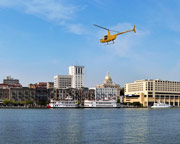 Helicopter Ride Savannah, Downtown Tour - 10 Minutes