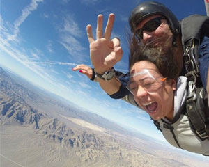 Skydive Las Vegas with Pro Video and Photo Package Included - 12,000ft Jump (Free Hotel Shuttle Service)