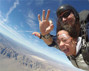 Skydive Sin City Las Vegas with Pro Video and Photo Package Included - 12,000ft Jump (Free Hotel Shuttle Service)