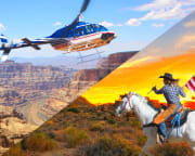 Helicopter Tour Grand Canyon West with Horseback Ride - 20 Minute Flight (Las Vegas Shuttle Included)