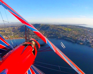 Biplane Formation Flight - San Diego Beach Run