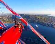 Biplane Formation Flight - San Diego Beach Run