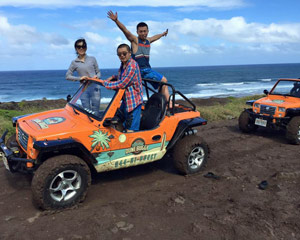 Oahu Dune Buggy Guided Tour, Waterfall Adventure - Full Day