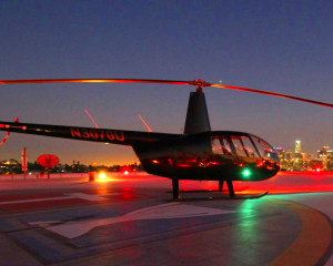Private Helicopter Ride Los Angeles, Downtown Landing Tour - 1 Hour