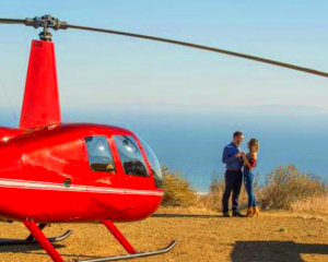 Private Helicopter Ride Los Angeles, Mountain Landing Picnic - 1.5 Hours