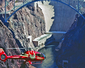 Deluxe Coach, Helicopter and VIP Ground Tour Hoover Dam - 7.5 Hours (Includes Hotel Shuttle)