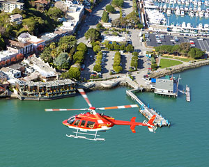 San Francisco Helicopter Tour with Sausalito Landing and Ferry Return - 3 Hours (FREE SHUTTLE SERVICE INCLUDED!)