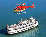 San Francisco Helicopter Tour and Dinner Cruise - 5 Hours (FREE SHUTTLE SERVICE INCLUDED!)