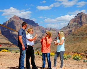 Motor Coach Bus Tour to Grand Canyon West Rim From Las Vegas With Helicopter Flight, Pontoon Boat Ride and Skywalk Access - Full Day