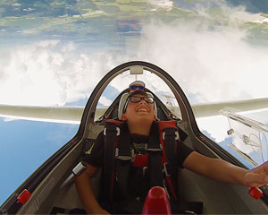 Glider Aerobatic Flight, Orlando - 4,000 Feet