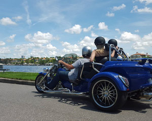 Trike Tour Tampa, Bayshore Drive and Davis Islands - 45 Minutes (Up to 2 Passengers Can Ride!)