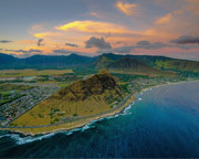 Private Sunset Helicopter Tour Oahu - 45 Minutes (Includes Waikiki Hotel Shuttle)