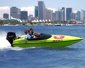 Speed Boat Tour Miami, Single Driver - 2 Hours