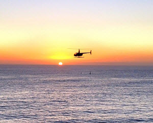 Helicopter Ride Oceanside to La Jolla Cove - 40 Minute Sunset Flight