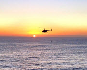 Helicopter Ride Oceanside to La Jolla Cove - 40 Minute Sunset Flight (3rd Passenger Rides for Free!)