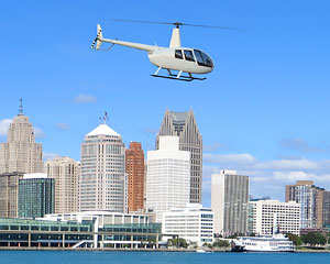 Private Helicopter Ride Detroit, Doors Off Adventure - 15 Minutes (3rd Passenger Rides for Free!)