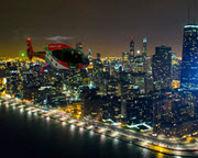 Helicopter Tour Chicago, Night Flight - 15 Minutes