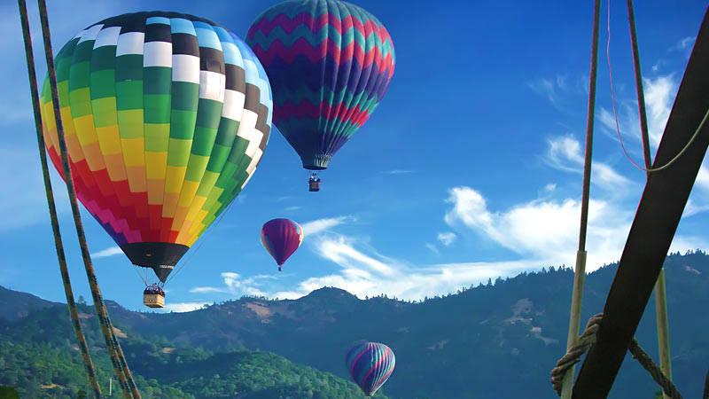 Hot Air Balloon Ride Napa Valley 1 Hour Flight Adrenaline