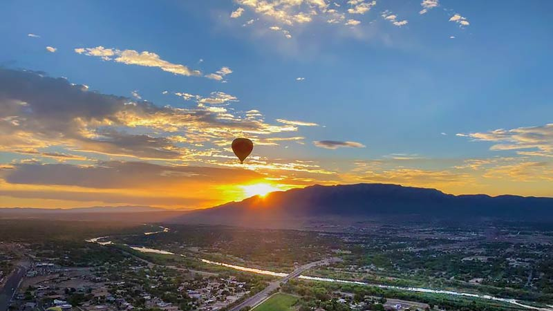 Hot Air Balloon Ride Albuquerque Sunrise Rio Grande