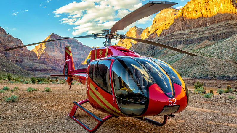 Grand Canyon Helicopter Tour with Canyon Floor Champagne Landing - 4 Hours (Hotel Shuttle Included)