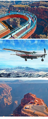 Grand Canyon Plane Tour with Helicopter Ride, West Rim - 6 Hours