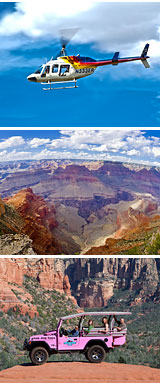 Helicopter and Jeep Tour Grand Canyon South Rim, North Canyon Heli Tour - 3 Hours