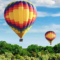 Fly on the most magical hot air balloon ride in Albuquerque. Guests from all over the world come to Albuquerque to soar above the scenic Rio Grande and glide over beautiful south-western scenery.