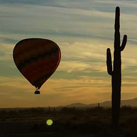 Phoenix is one of the largest cities in the US. It occupies nearly 250 square miles of stunning natural landscapes, waterways and urban hubs. And with much to discover, the only way to really take in the Valley of the Sun's many sights is adrift on a one-of-a-kind hot air balloon ride.