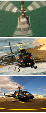 Helicopter flight over Oahu, Hawaii
