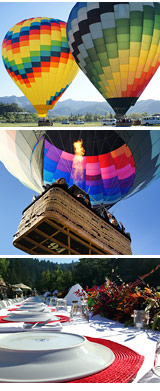 Hot Air Balloon Ride Napa Valley - 1 Hour Flight with Champagne Breakfast at Solage