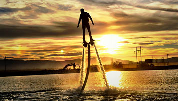 Flyboarding and Jet Pack
