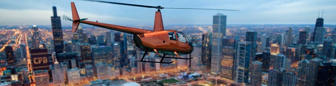 AIR & WATER. Explore Chicago from the river aboard a Shoreline architectural boat cruise. Fly on one of our state-of-the-art helicopters and experience panoramic views of the skyline, lakefront and skyscrapers from above.