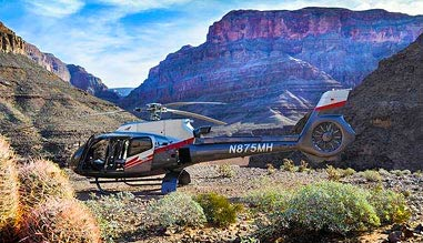 Grand Canyon Helicopter Ride with Canyon Floor Champagne Landing