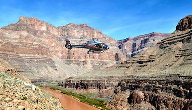 Grand Canyon Helicopter Ride with Canyon Floor Champagne Landing and Strip Tour