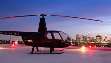 Private Helicopter Ride Los Angeles, Downtown Landing Tour