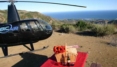 Private Helicopter Ride Los Angeles, Mountain Landing Picnic