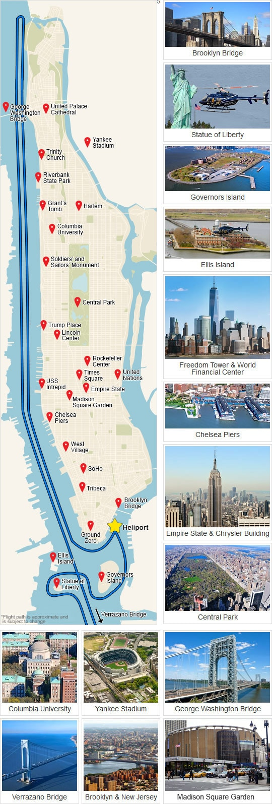 Map of Helicopter Flight New York
