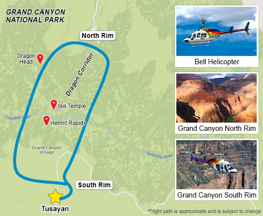 Helicopter Tour map
