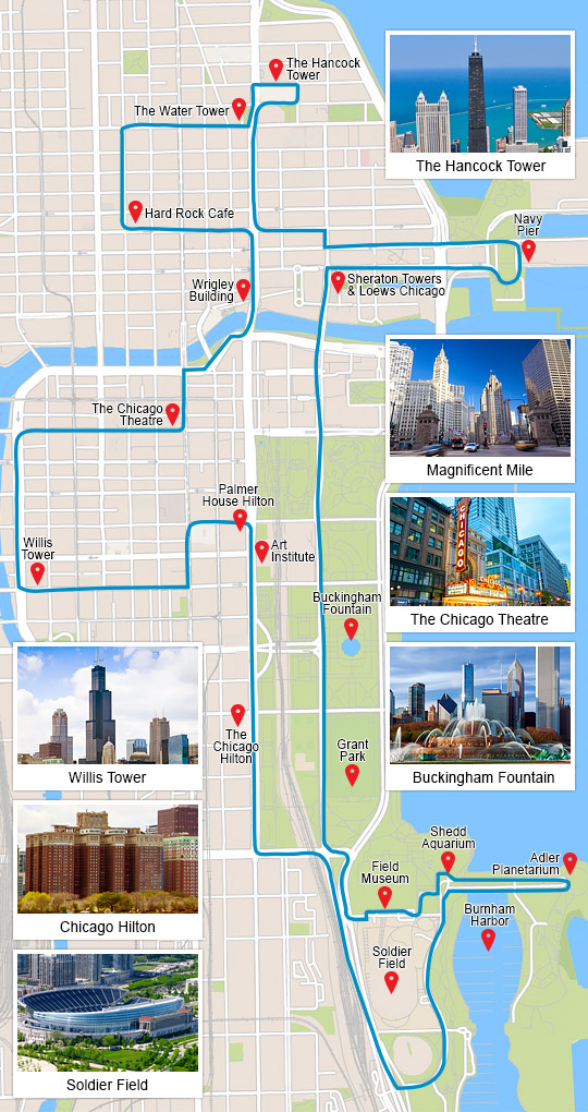 Bus Tour Chicago, the Big Loop   Day Pass