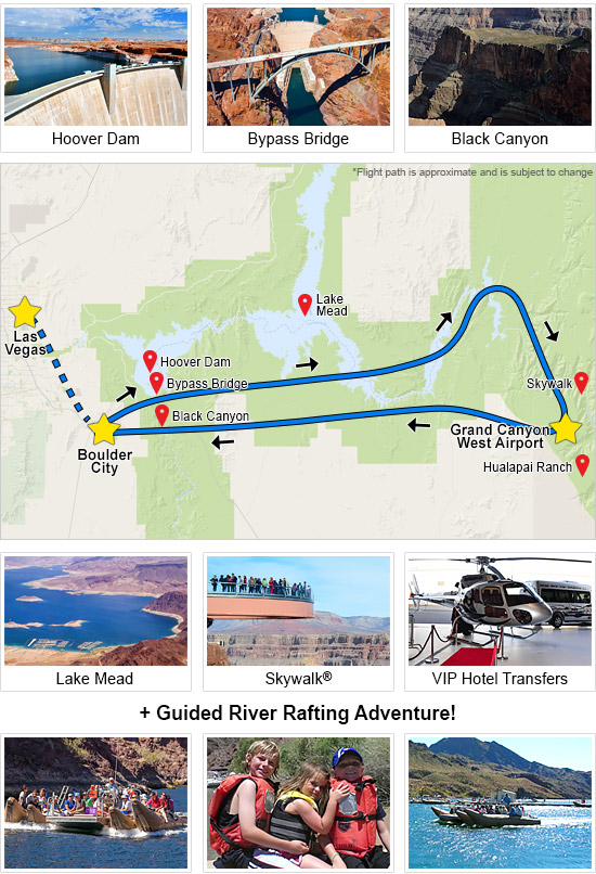 Grand Canyon Helicopter Tour & Black Canyon River Rafting Adventure